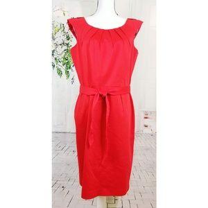 Calvin Klein sheath midi dress red size 14